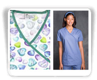 Mock Wrap Scrub Tops